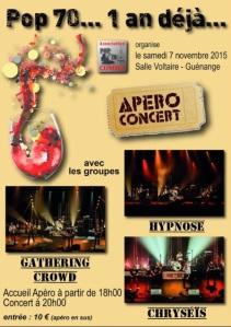 Apéro concert Pop 70